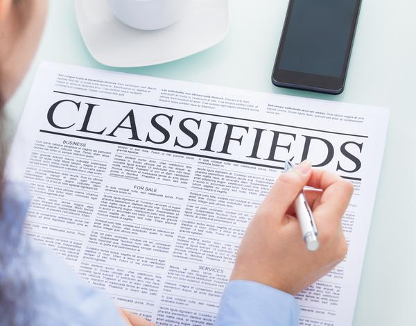 Classified adverts