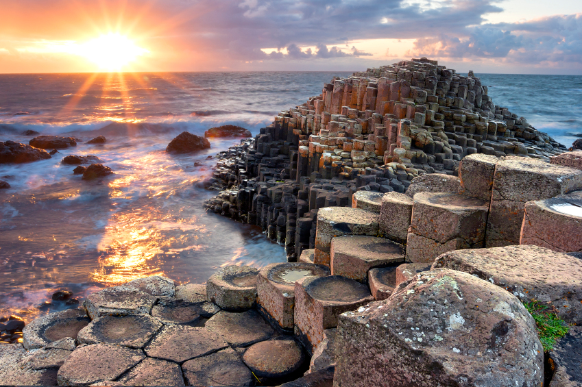 Sunset at Giant's causeway image used to illustrate Ireland's favourite porn