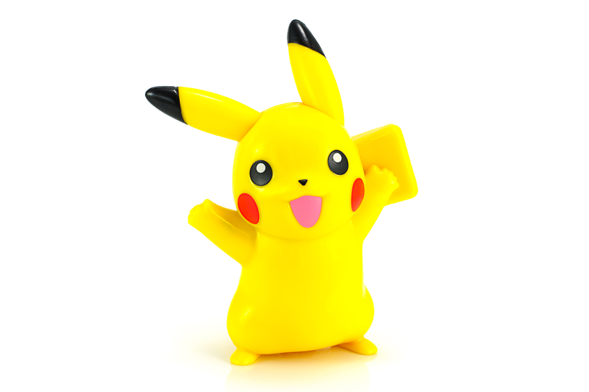 Pikachu, one of the many Pokémon you can capture in the Pokémon Go app game
