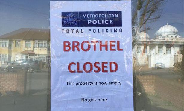 Police Leave Hilarious Sign at Closed Brothel