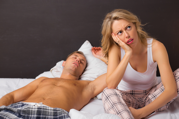 A disappointed woman after bad sex