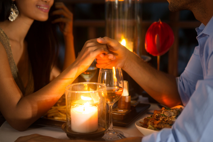Romantic date with an escort