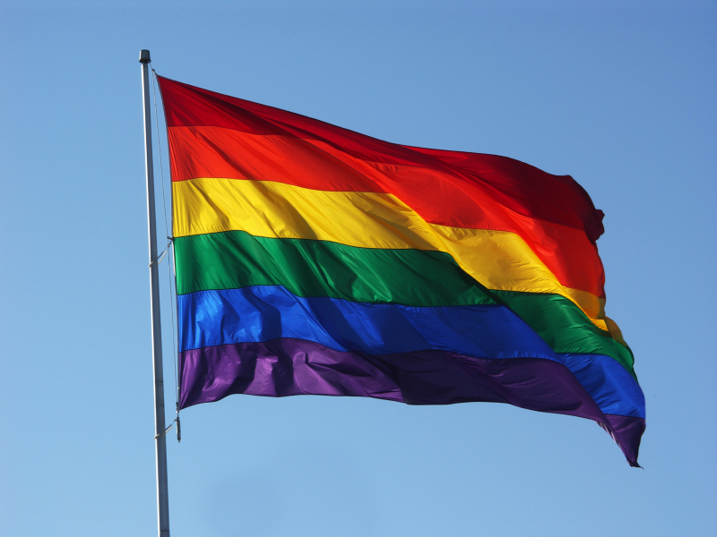 The waving rainbow flag