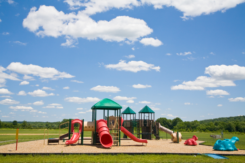 A Kids playground on a sunny day