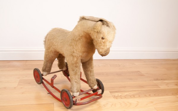 A toy rocking horse