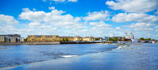Athlone city and Shannon river