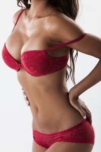 Body of sexy woman in red lingerie