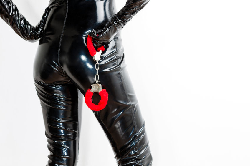 Dominatrix with handcuffs