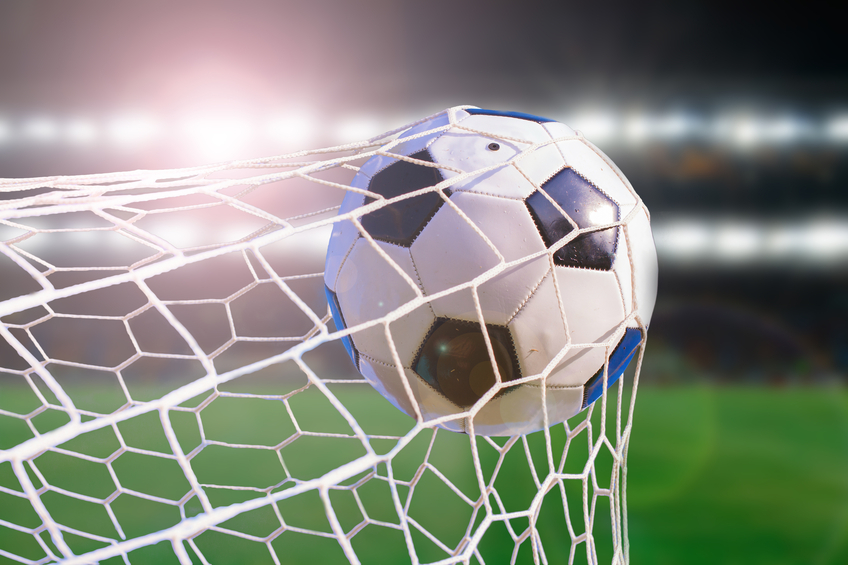 Ball flies into net