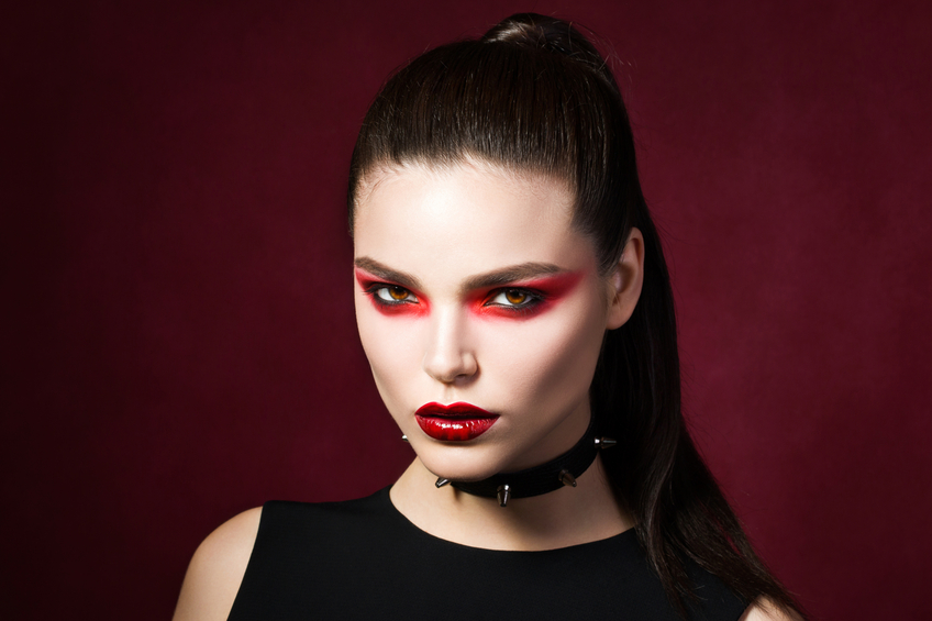 Sexy vampire looking woman