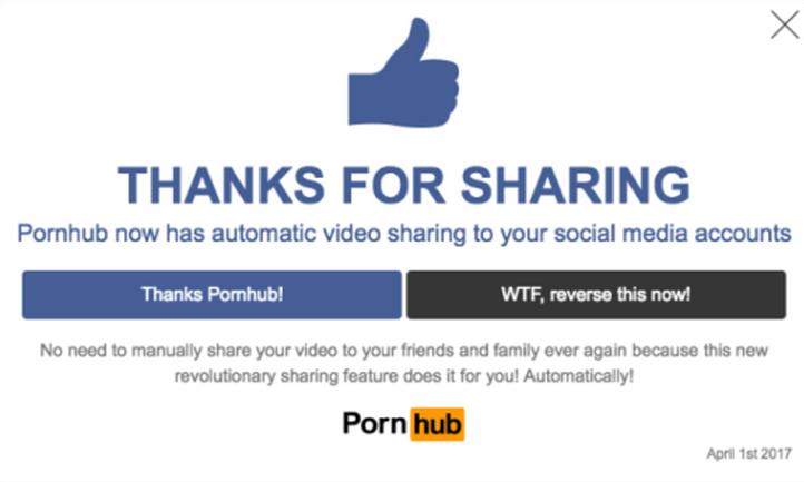 Pornhub warning