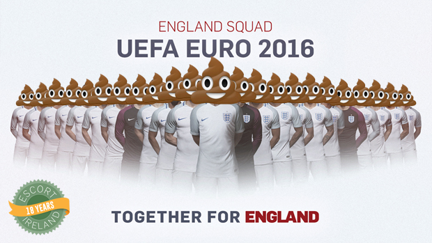 England team with poo for heads